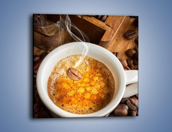 Obraz na płótnie – Ziarna zatopione w kawie – jednoczęściowy kwadratowy JN416