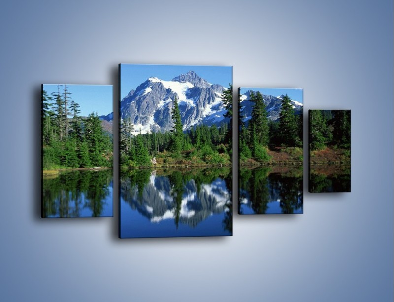 Obraz na płótnie – Zimowe pozostałości w górach – czteroczęściowy KN225W4