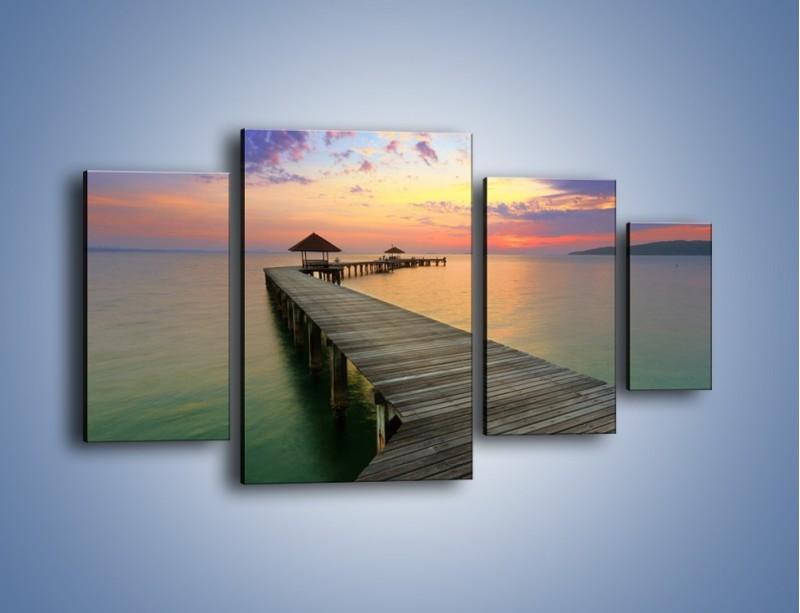 Obraz na płótnie – Krętym pomostem do morza – czteroczęściowy KN327W4