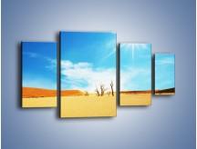 Obraz na płótnie – Błękit nieba i słońce w ziemi – czteroczęściowy KN331W4