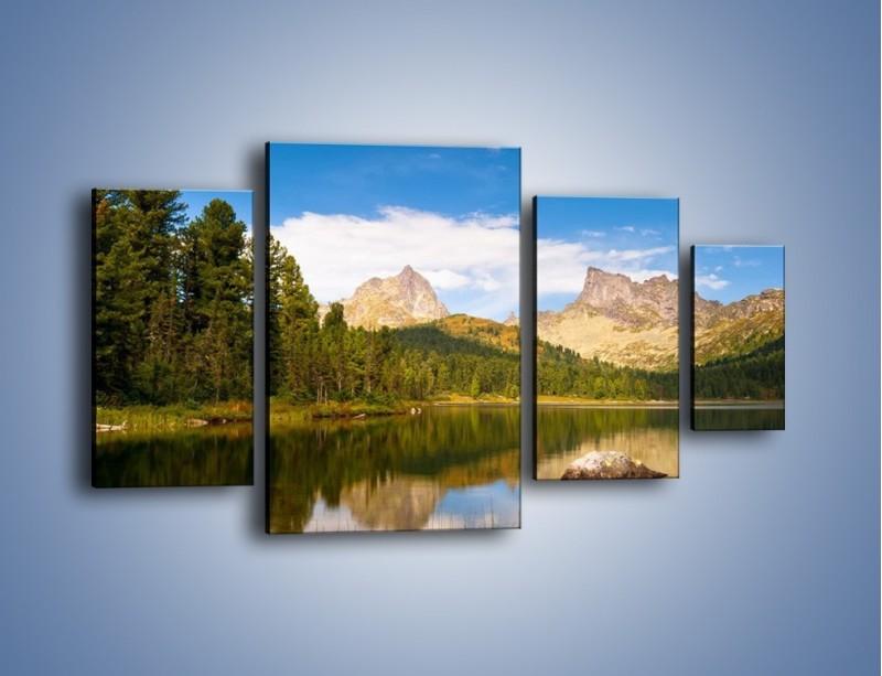 Obraz na płótnie – Widok nie tylko na góry – czteroczęściowy KN401W4