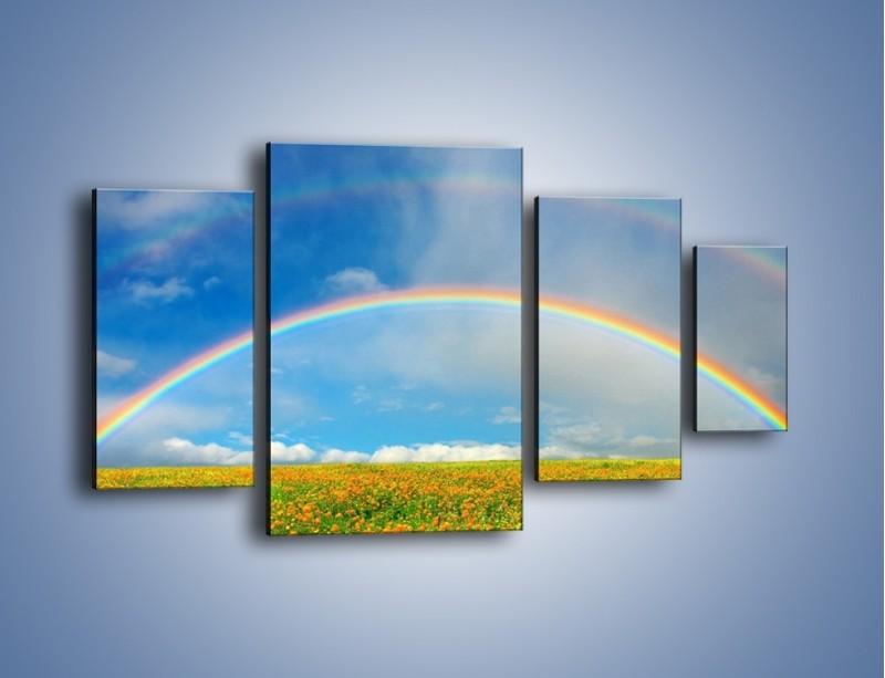 Obraz na płótnie – Urok kolorowej tęczy – czteroczęściowy KN406W4