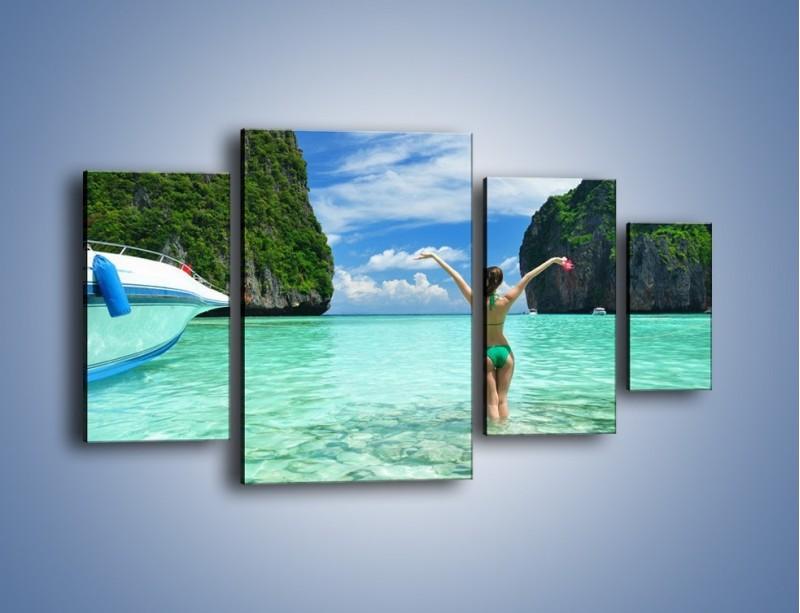 Obraz na płótnie – Udane wakacje w ciepłych krajach – czteroczęściowy KN530W4