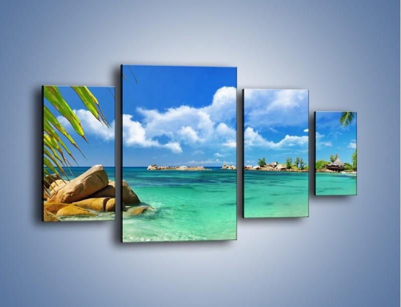 Obraz na płótnie – Tropikalna wyspa z katalogu – czteroczęściowy KN565W4