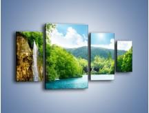 Obraz na płótnie – Cały urok górskich wodospadów – czteroczęściowy KN769W4