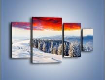 Obraz na płótnie – Cały urok gór zimą – czteroczęściowy KN805W4