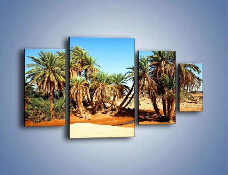 Obraz na płótnie – Palmowa rodzina w komplecie – czteroczęściowy KN809W4