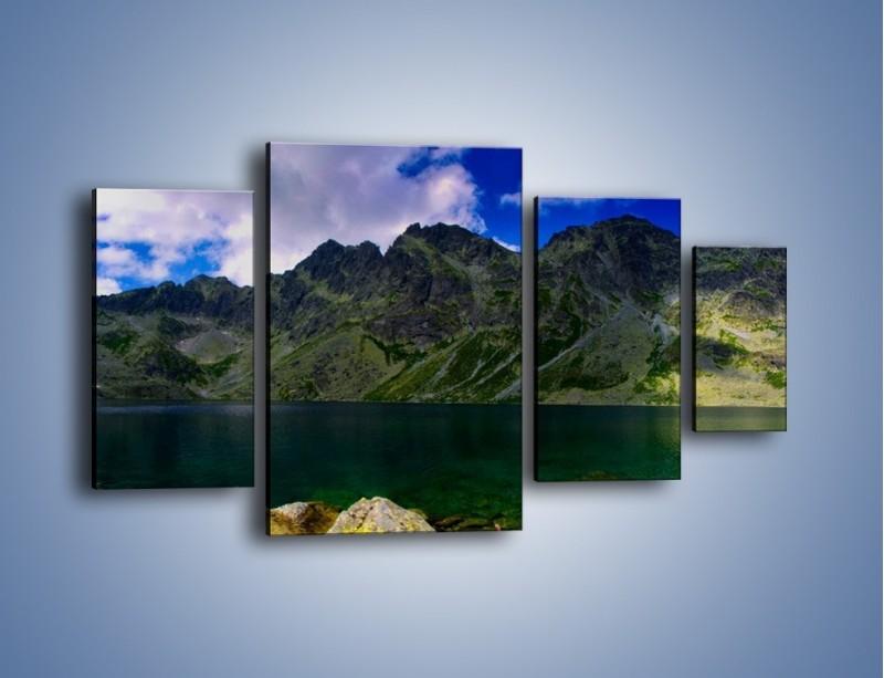 Obraz na płótnie – Horyzont górskich szczytów – czteroczęściowy KN856W4