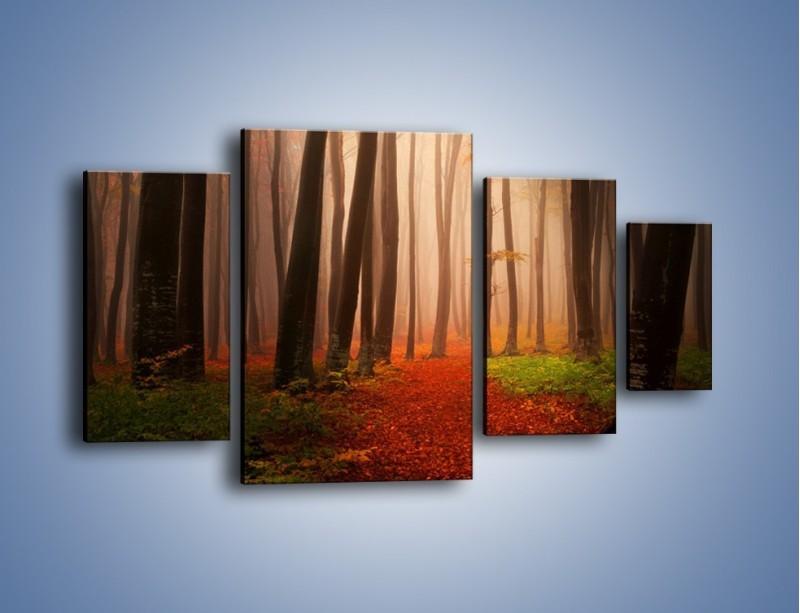 Obraz na płótnie – Las pełen tajemnic – czteroczęściowy KN909W4