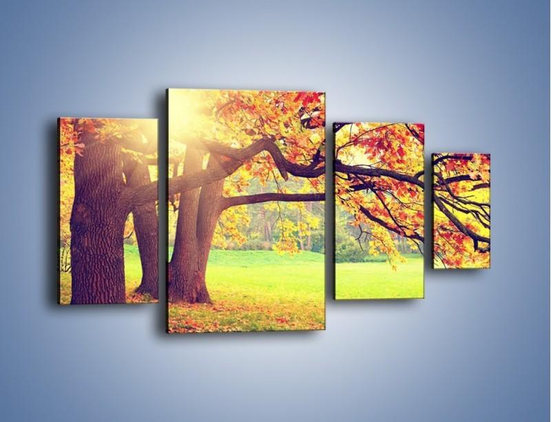 Obraz na płótnie – Jesienią w parku też jest pięknie – czteroczęściowy KN967W4