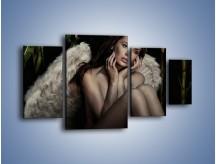 Obraz na płótnie – Anioł i jego tęsknota – czteroczęściowy L011W4