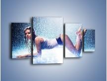 Obraz na płótnie – Ciało zmoczone deszczem – czteroczęściowy L045W4