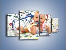 Obraz na płótnie – Chodź pomaluj mój świat – czteroczęściowy L059W4