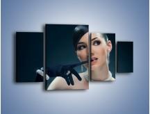 Obraz na płótnie – Czarna dama w diamentach – czteroczęściowy L171W4