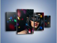 Obraz na płótnie – Bal w czarnych maskach – czteroczęściowy L177W4