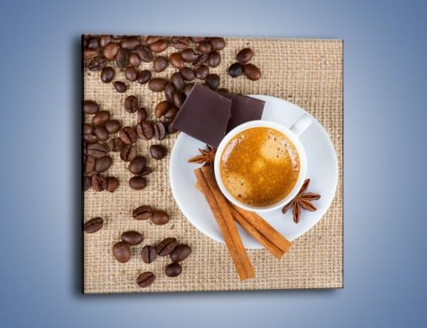 Obraz na płótnie – Kawa i czekolada – jednoczęściowy kwadratowy JN420
