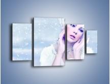 Obraz na płótnie – Delikatna królowa śniegu – czteroczęściowy L224W4