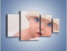 Obraz na płótnie – Błękitne oczy dzidziusia – czteroczęściowy L260W4
