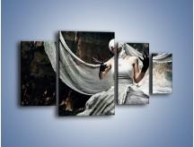 Obraz na płótnie – Dama w białych bandażach – czteroczęściowy L278W4