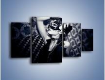 Obraz na płótnie – Czarno-biała dama – czteroczęściowy L315W4