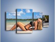 Obraz na płótnie – Czas rajskich plaży – czteroczęściowy L316W4