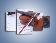 Obraz na płótnie – Melodia grana na skrzypcach – czteroczęściowy O003W4