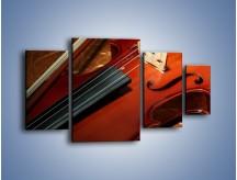 Obraz na płótnie – Instrument i muzyka poważna – czteroczęściowy O025W4