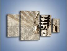 Obraz na płótnie – Głos w srebrnym mikrofonie – czteroczęściowy O026W4
