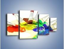 Obraz na płótnie – Kolory pędzlem malowane – czteroczęściowy O046W4