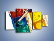 Obraz na płótnie – Kolorowy świat malowany farbami – czteroczęściowy O116W4