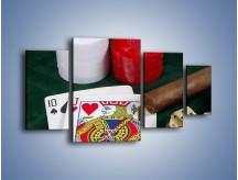 Obraz na płótnie – Męski świat hazardu – czteroczęściowy O121W4
