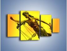 Obraz na płótnie – Figurka ważna w świecie prawa – czteroczęściowy O164W4
