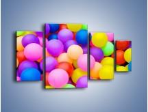 Obraz na płótnie – Basen z kolorowymi piłeczkami – czteroczęściowy O208W4