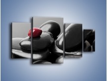 Obraz na płótnie – Czerwień wśród czarności – czteroczęściowy O212W4