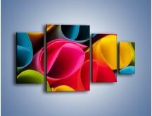 Obraz na płótnie – Kolorowe rulony – czteroczęściowy O217W4