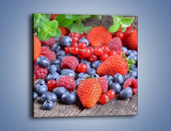 Obraz na płótnie – Owoce z działki – jednoczęściowy kwadratowy JN422
