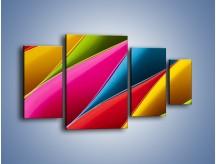 Obraz na płótnie – Idealna kolorowa kompozycja – czteroczęściowy O219W4