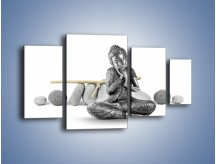 Obraz na płótnie – Budda wśród szarości – czteroczęściowy O220W4