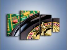 Obraz na płótnie – Czas drogocenny w kasynie – czteroczęściowy O238W4