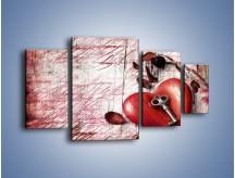 Obraz na płótnie – Klucz do serca – czteroczęściowy O246W4