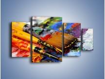 Obraz na płótnie – Kolory ze sobą zmieszane – czteroczęściowy O251W4