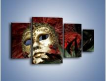 Obraz na płótnie – Maska pełna tajemnicy – czteroczęściowy O252W4