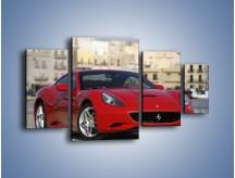 Obraz na płótnie – Czerwone Ferrari California – czteroczęściowy TM057W4