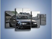 Obraz na płótnie – Czarne BMW E39 M5 – czteroczęściowy TM072W4
