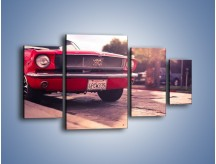 Obraz na płótnie – Czerwony Ford Mustang – czteroczęściowy TM087W4