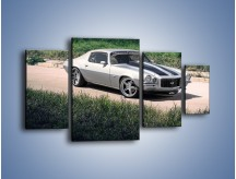 Obraz na płótnie – Chevrolet Camaro 1986 – czteroczęściowy TM105W4