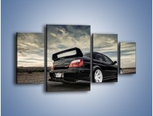 Obraz na płótnie – Czarne Subaru Impreza WRX Sti – czteroczęściowy TM133W4