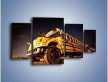 Obraz na płótnie – Amerykański School Bus – czteroczęściowy TM146W4