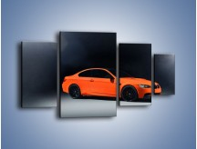 Obraz na płótnie – BMW M3 E92 Coupe Orange – czteroczęściowy TM168W4