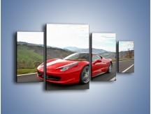 Obraz na płótnie – Czerwone Ferrari 458 Italia – czteroczęściowy TM194W4